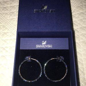 Swarovski Blue Hoop Earrings